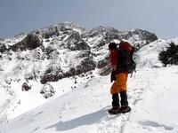 文三郎道から見る赤岳